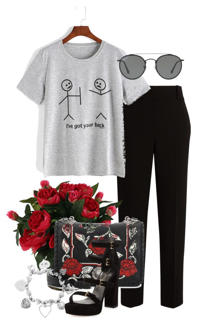 """""""morning town"""" by angelina-nota ❤ liked on Polyvore featuring The Row, Miu Miu, Stuart Weitzman, ChloBo and Ray-Ban"""