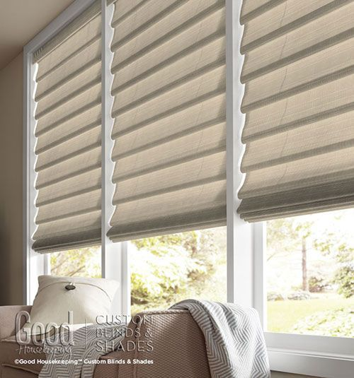 Simple casual and classic roman shades are a for Simple window treatments for large windows