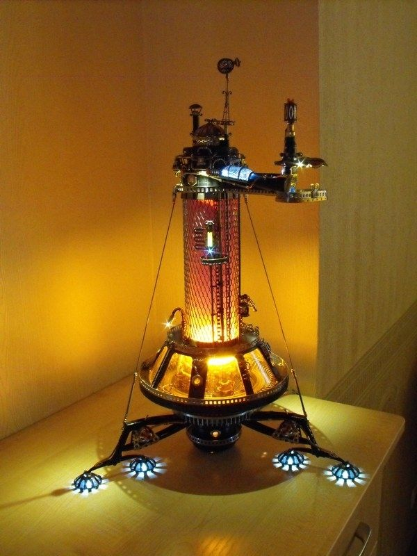2012 2 arts and lamps pinterest steampunk lampe steampunk. Black Bedroom Furniture Sets. Home Design Ideas