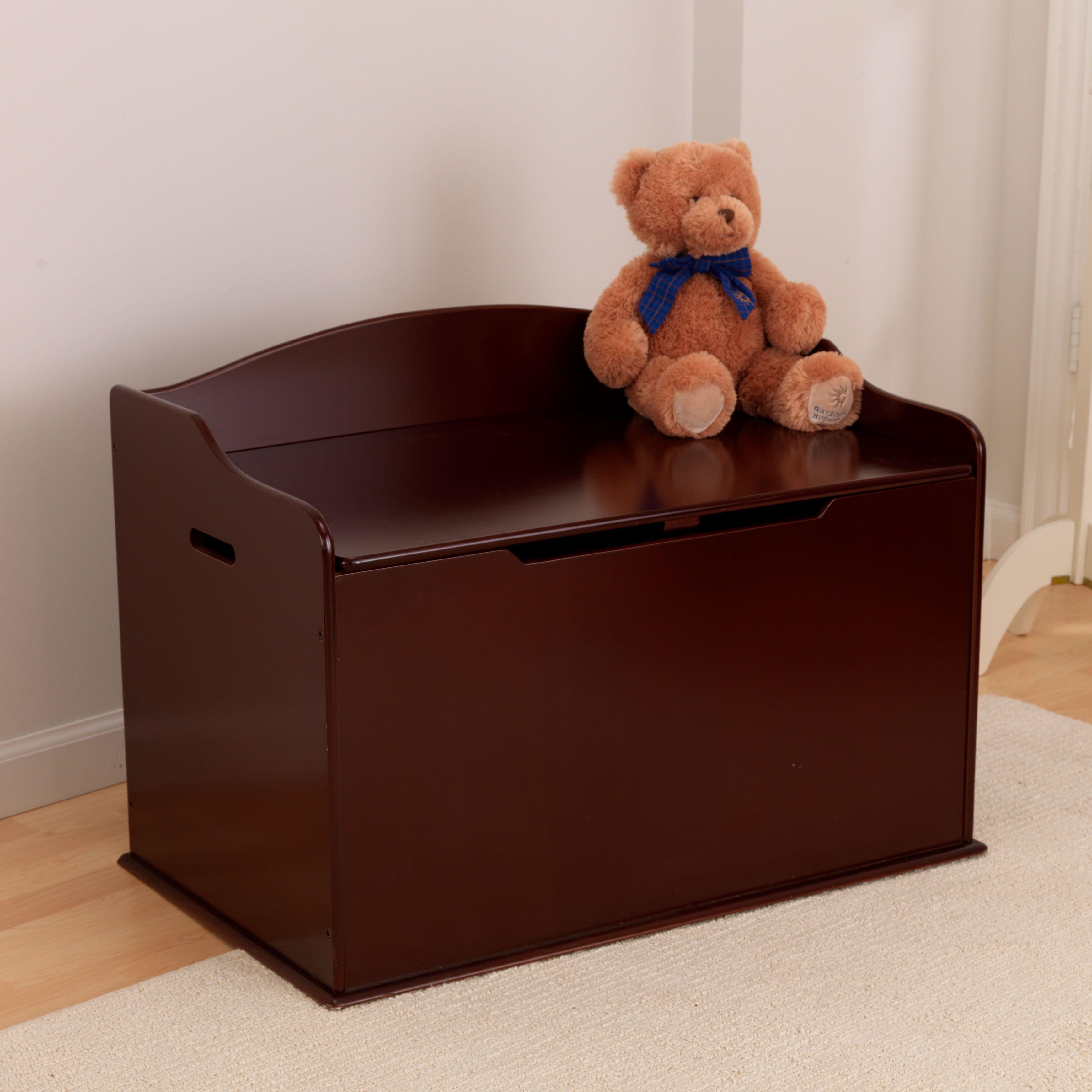Austin Toy Box Cherry Wooden Toy Boxes Toy Storage Boxes Wood Toy Box