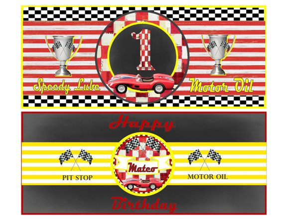 CAR OILCAN Labels - Personalized Printable Download Products