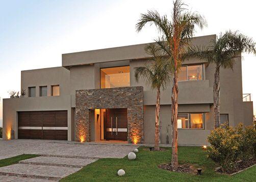 Toque de piedra en 2019 casas modernas casas y fachadas for Portico moderno