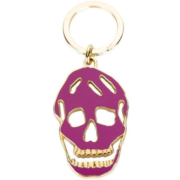 Alexander McQueen skull embellished keyring - Metallic ai79c7ETKx