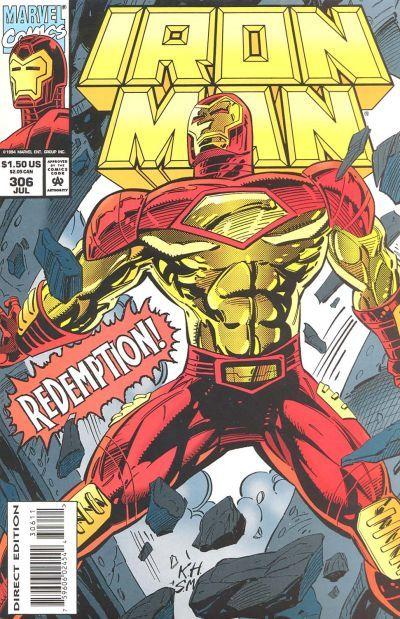 Iron Man # 306 by Kevin Hopgood & Steve Mitchell