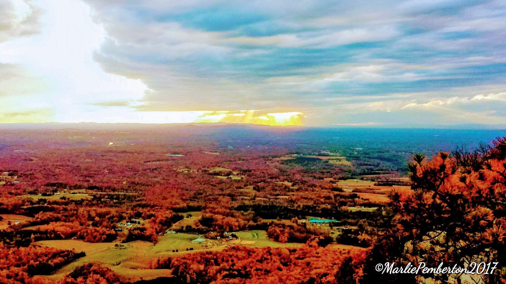 Autumn View From Pilot Mountain North Carolina Pilot Mountain Natural Landmarks Landmarks