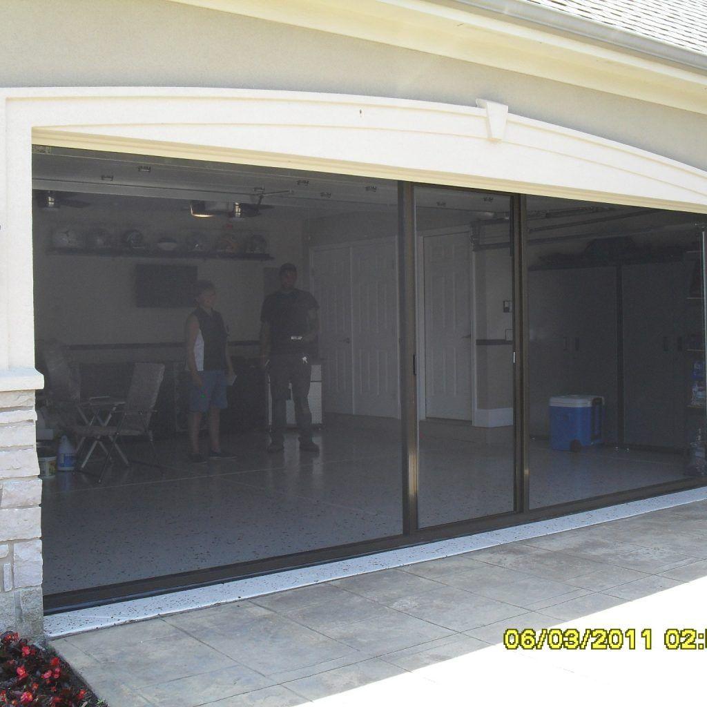 Retractable Roll Up Screen For Garage Door Garage Doors Sliding