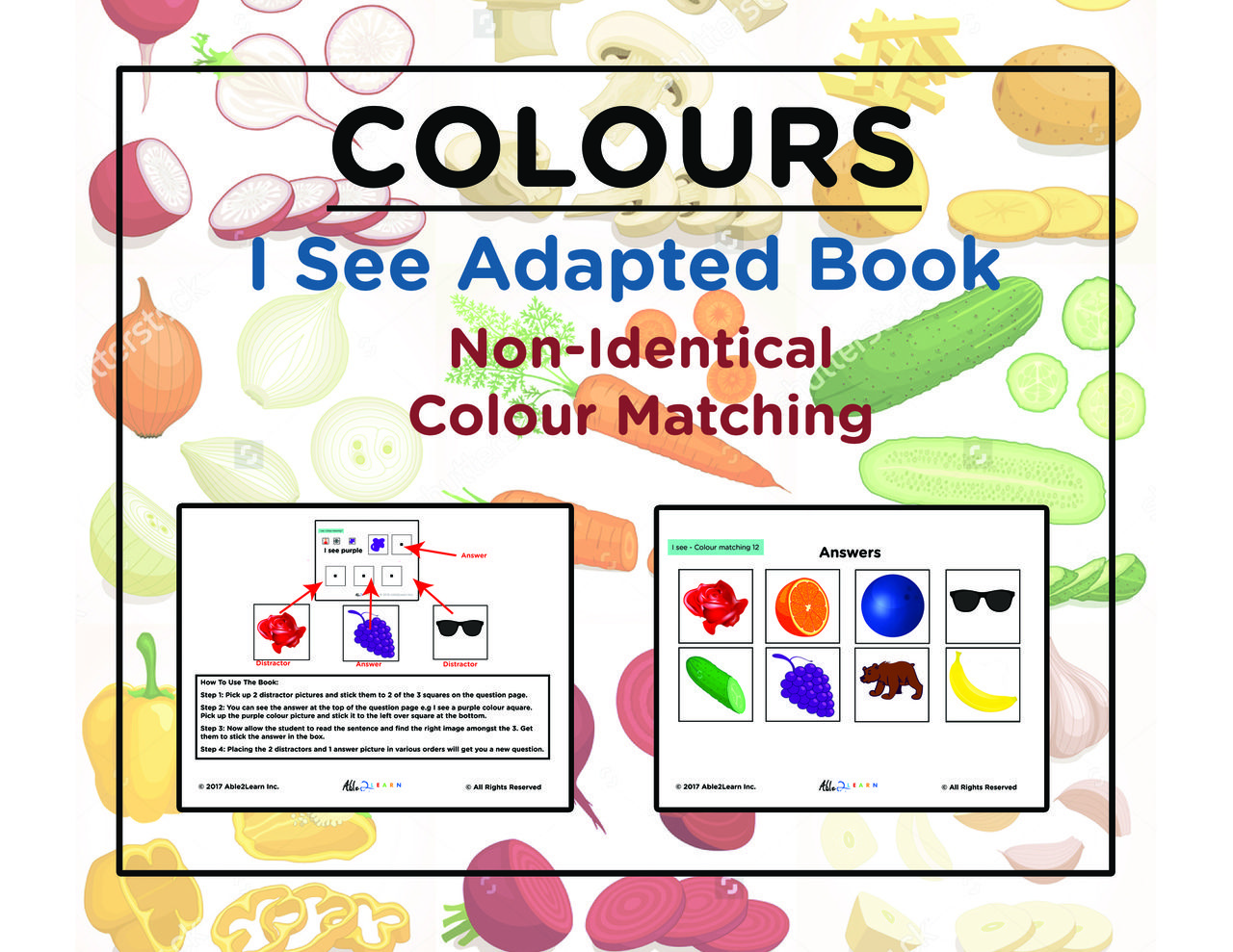 I See Identify Non Identical Colours Adapted Book