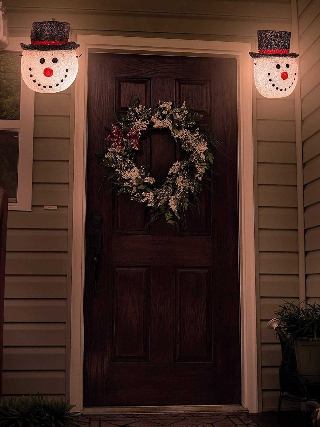 Besti Snowman Porch Light Cover Holiday And Christmas Decorations You Can Get Additional De In 2020 Outdoor Christmas Lights Porch Light Covers Christmas Decorations