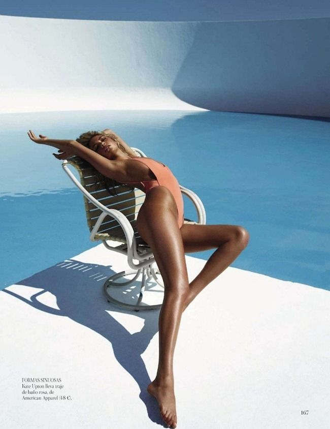 Kate Upton for Spanish Vogue - photo by Miguel Reveriego