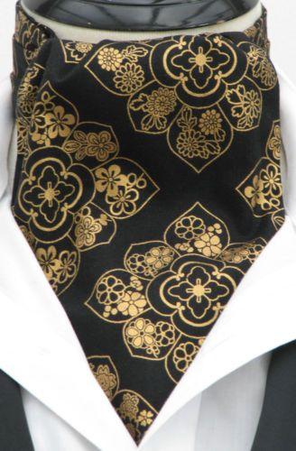 Kerchief  Pocket Square Mens Red with Brown /& Gold Paisley Design Cotton Ascot Cravat