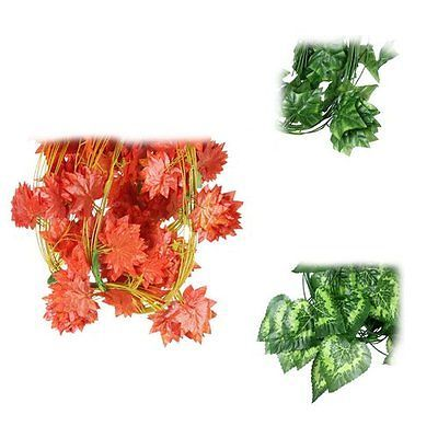 #1xgreen artificial plastic faux ivy leaf garland #plant #craft xmas home diy dec,  View more on the LINK: http://www.zeppy.io/product/gb/2/401102693011/