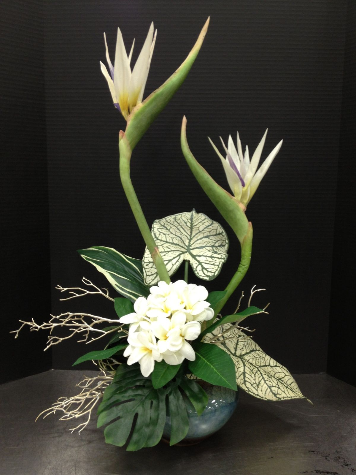 White Bird Of Paradise Floral Arrangement