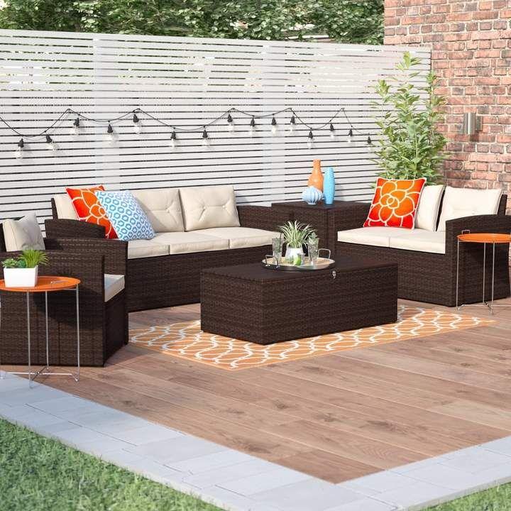 Best Sol 72 Outdoor Arlington 5 Piece Rattan Sofa Seating Group 400 x 300