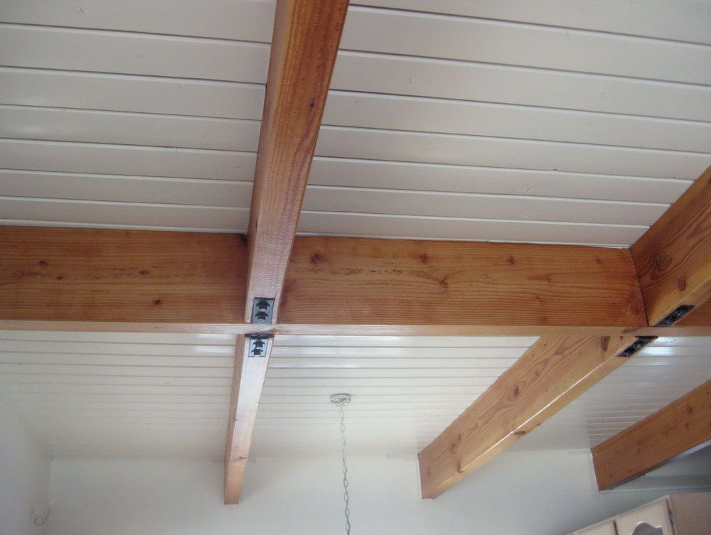 1 6 Pine Tongue And Groove Vaulted Ceiling Finished With Dark