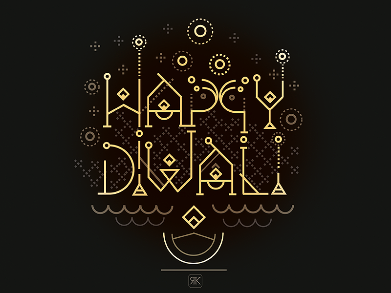 Happy diwali typography inspiration and