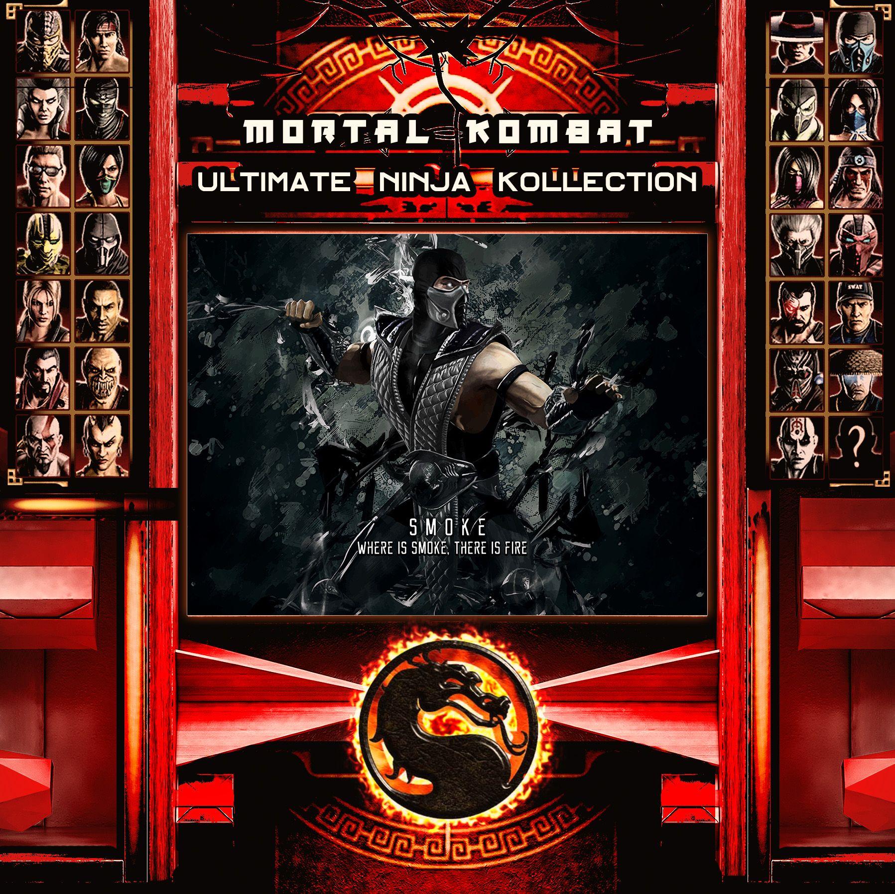 Mortal Kombat Ultimate Ninja Collection Smoke Metal Print | Displate thumbnail