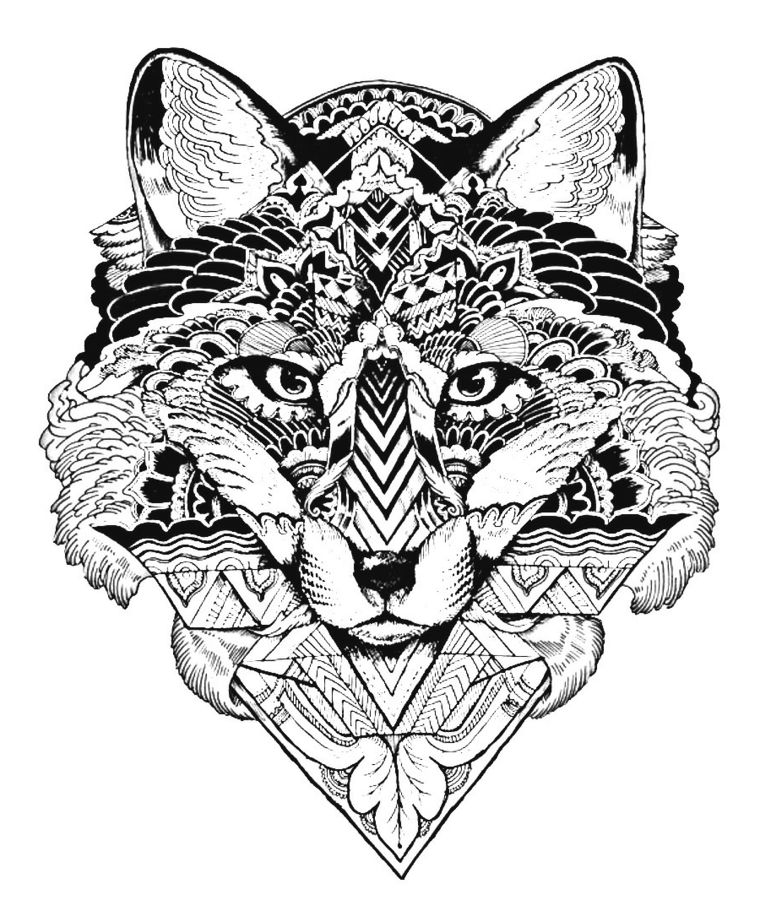 Tigre Disegno Come Disegnare Un Mandala Animale Forme Geometriche Triangoli Fiori Pagine Da Colorare Per Adulti Mandala Disegno Di Mandala