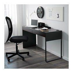 Ikea Micke Bureau.Bureau Micke Brun Noir Apartment Living Micke Desk Black Desk