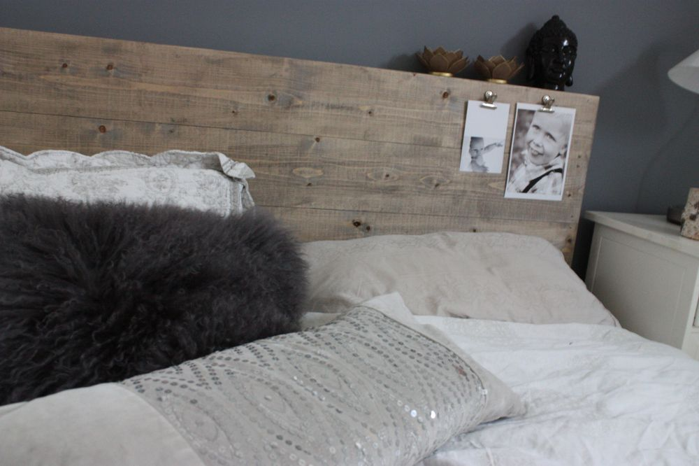 Ny hjemmelaget sengegavl