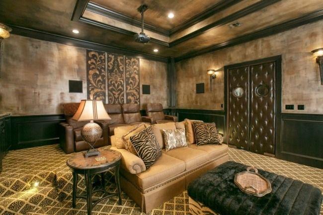 Dekorative Maltechnik Effekte Wans Wohnzimmer Metall Optik