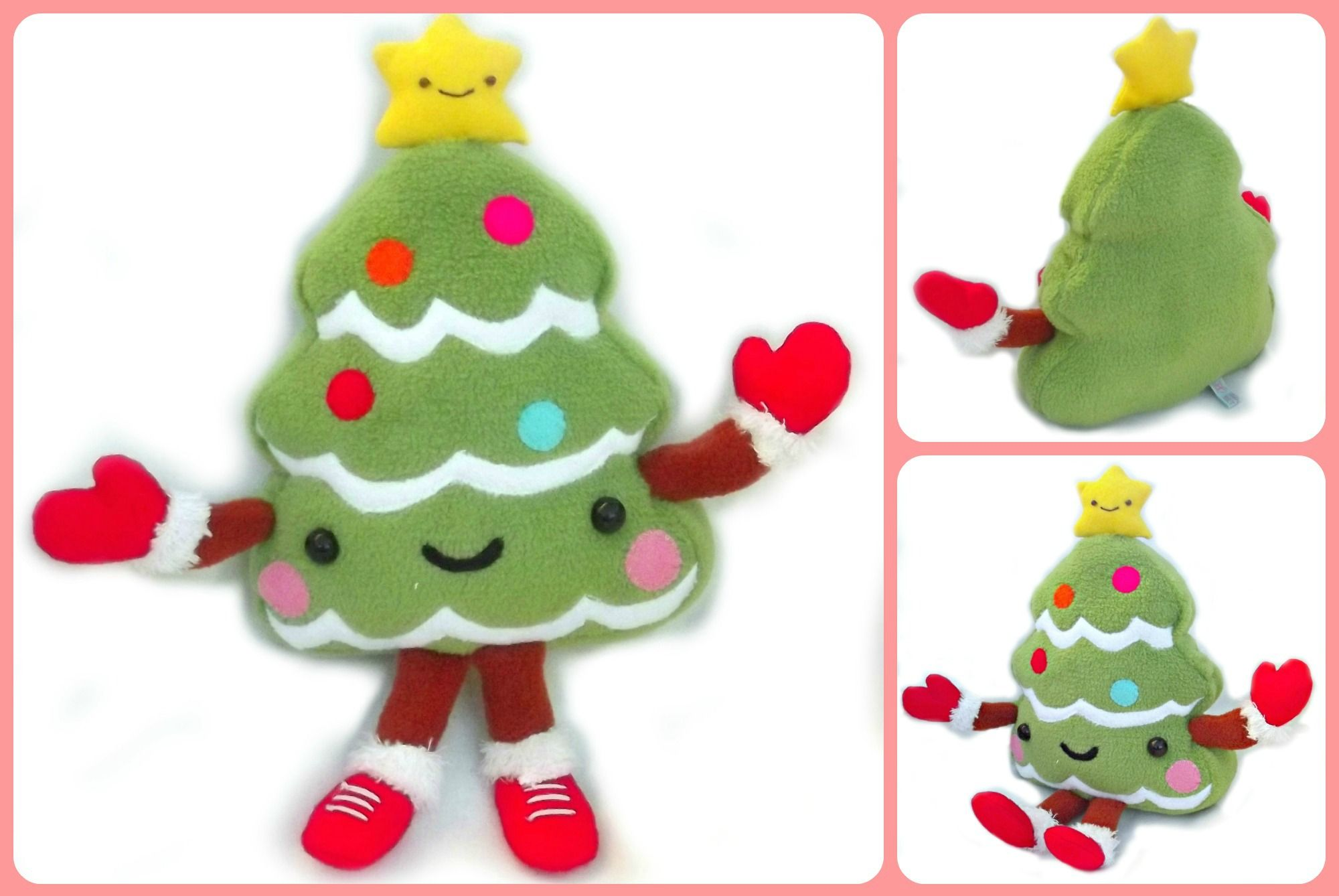 more views of the plush kawaii christmas tree by Bettie\'s Pets ...