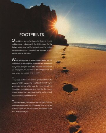 This is a picture of Poem Footprints in the Sand Printable for original