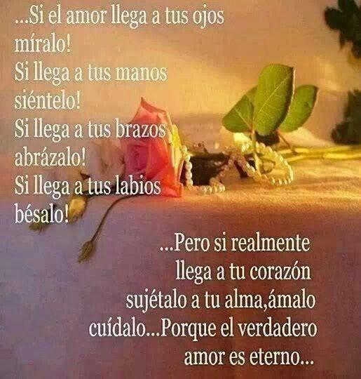 El Amor Si Realmente Llega Al Corazon Sujetalo Frases De Amor