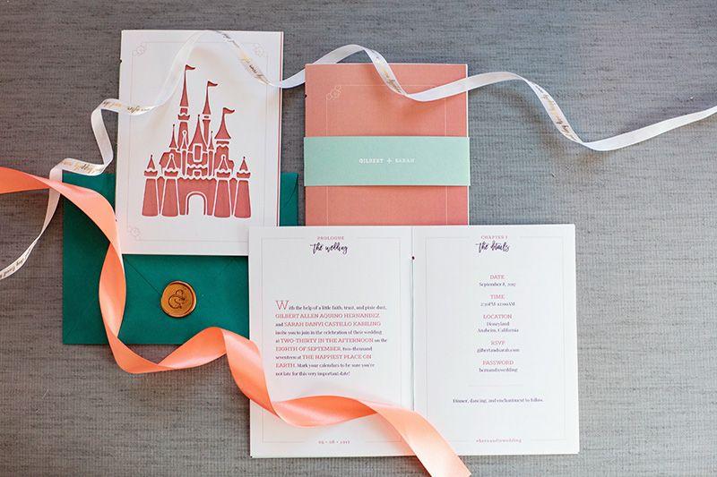 Fairy Tale Invitation For This Disneyland Wedding