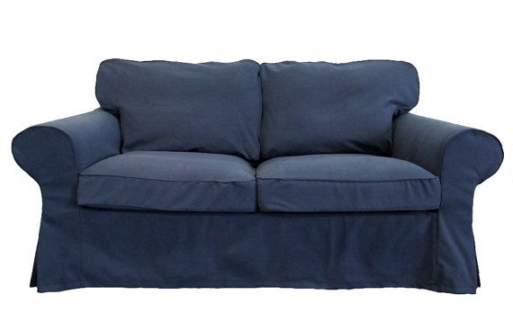 Ikea Ektorp Loveseat Custom Slipcover In Denim By Freshknesting 248 00 Custom Slipcovers Love Seat Ektorp Sofa Cover