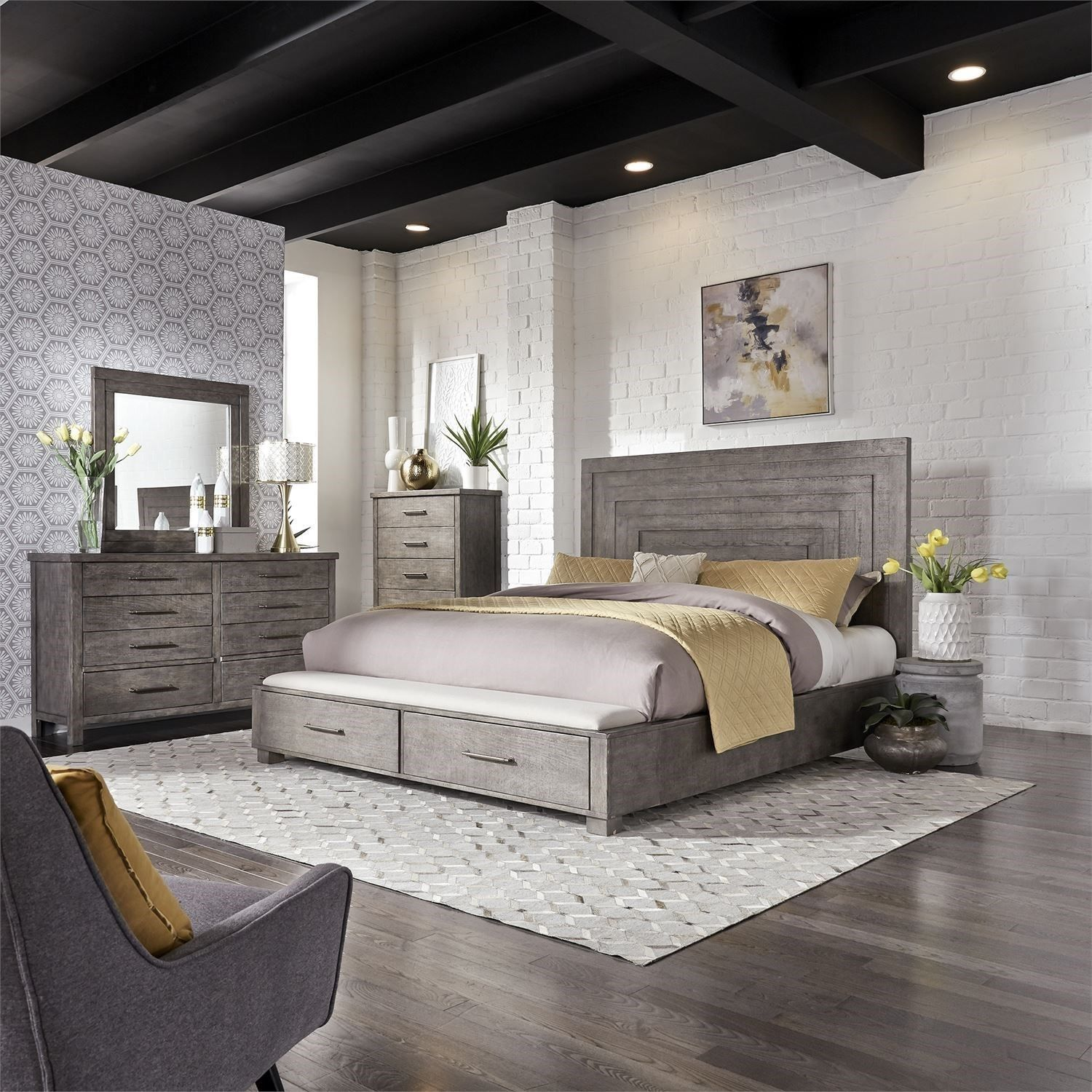 Best Modern Farmhouse Queen Bedroom Group By Sarah Randolph 400 x 300
