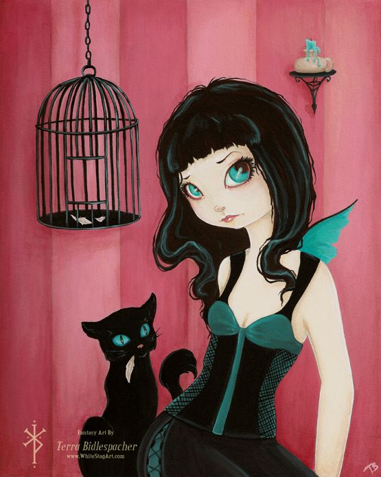 Fairy & Black Cat 2 by Terra Bidlespacher