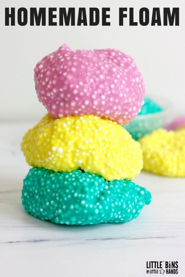 The Best Floam Slime For Kids Crunchy Slime Recipe Homemade Slime Slime For Kids