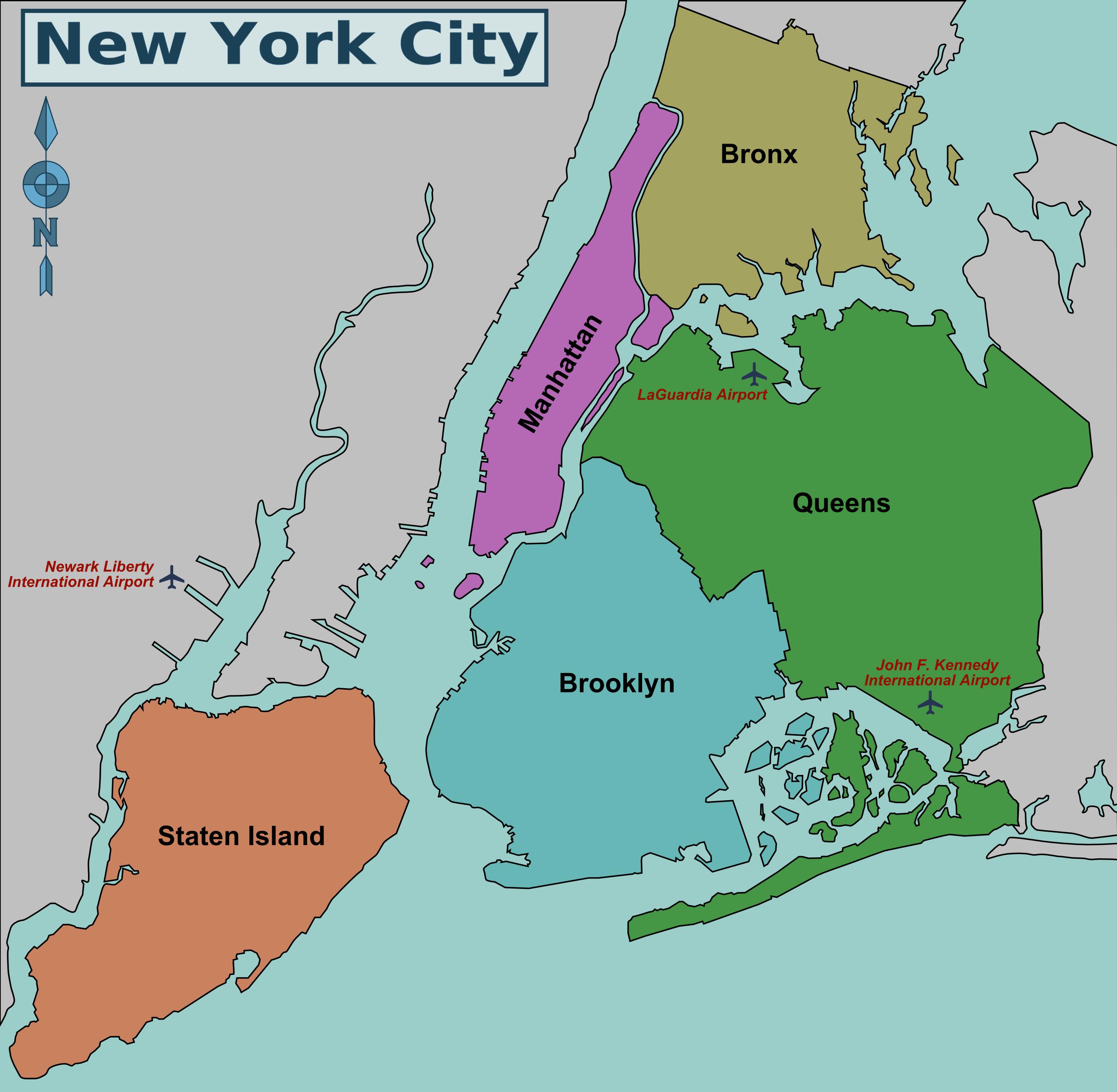 new york city islands map