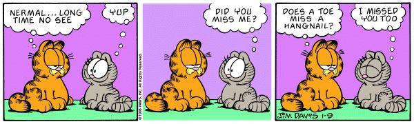 Garfield Nermal Garfield Comics Garfield Cartoon Cat