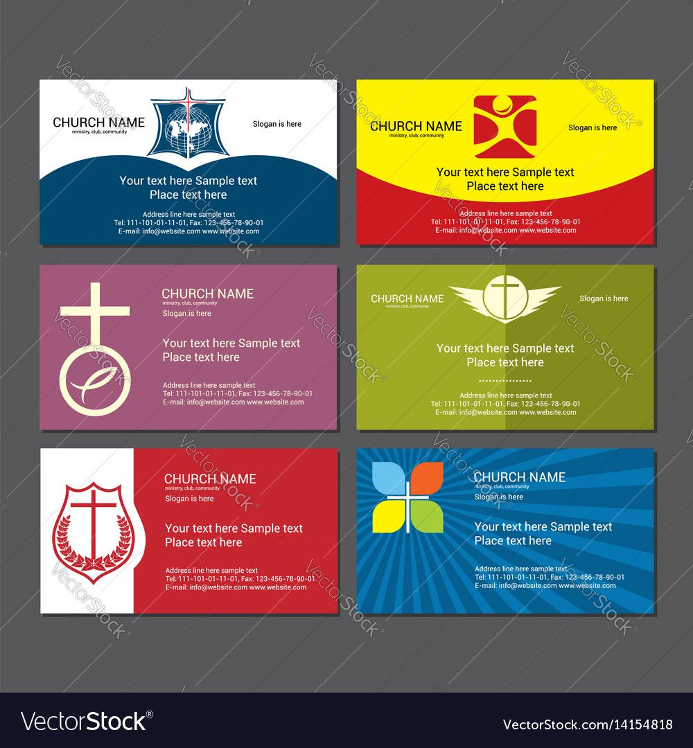 Set Christian Business Cards For The Church Within Christian Business Cards Templates F Free Business Card Templates Card Templates Free Business Card Template