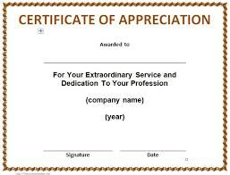 image result for certificate of appreciation template word