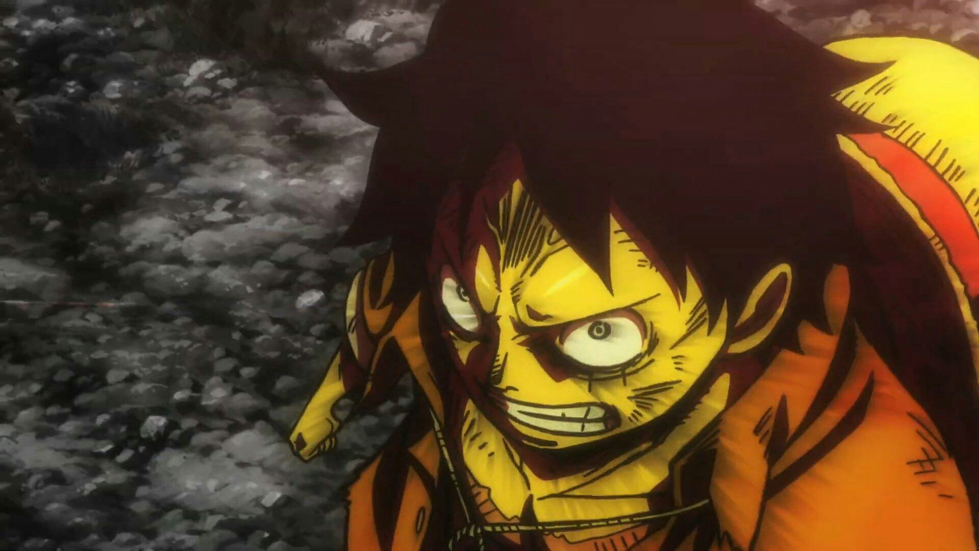 Luffy From Stampede Movie One Piece Anime Luffy Anime Films