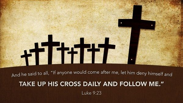 Daily Bible Verse Luke 9:23