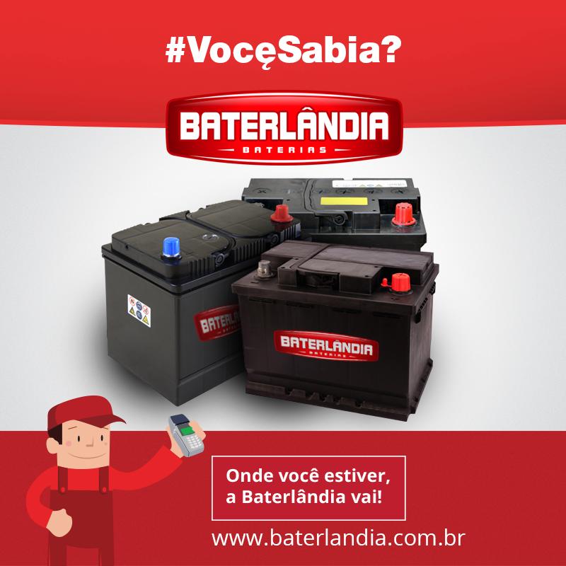 #VocêSabia? As baterias são projetadas para trabalhar com no mínimo 80% de carga durante toda a sua vida útil. Fique esperto, chame a Baterlândia!