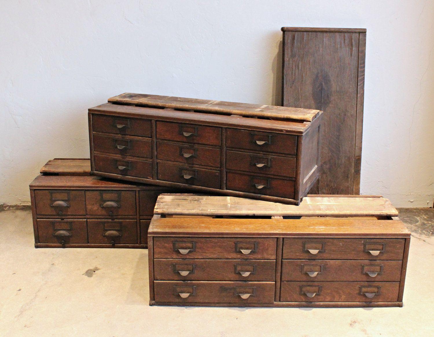 Antique Wooden 23 Drawer Storage Cabinet Wood Storage Cabinets