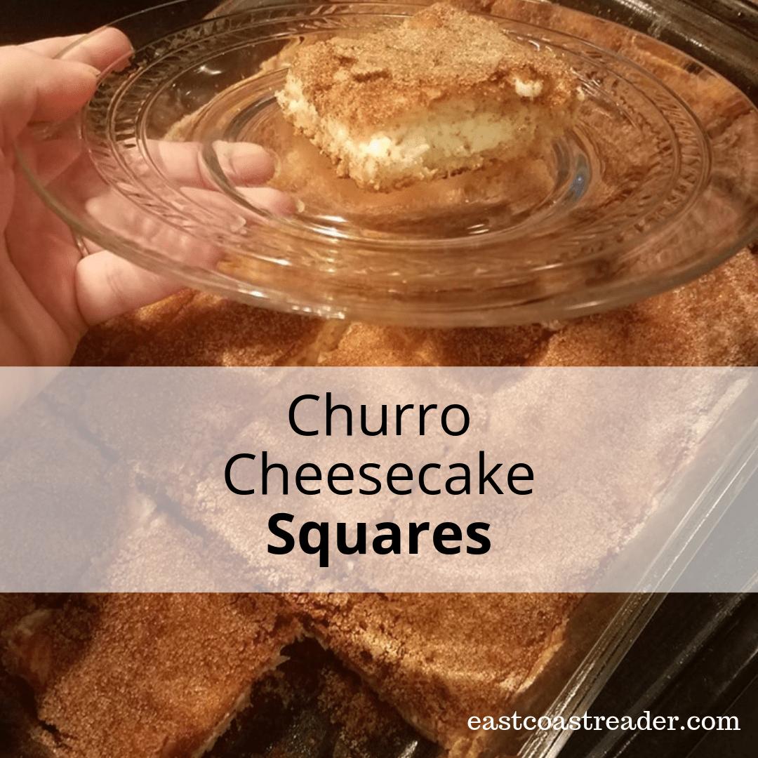 Churro Cheesecake Squares #ProcrastiBaking - East Coast Reader #churrocheesecake