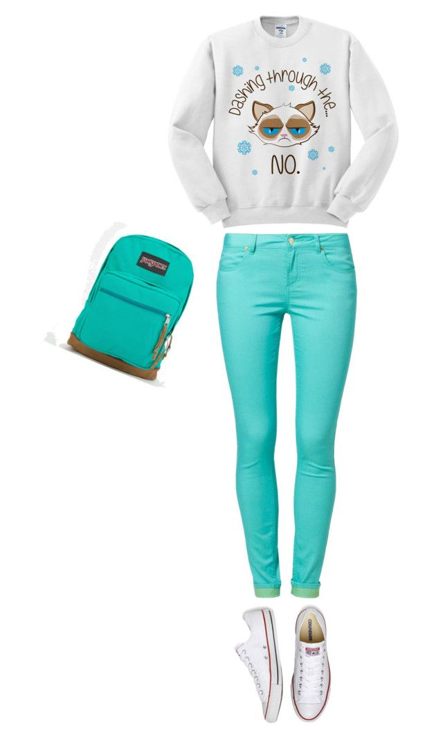 """""""Frohe Weihnachten"""" by divacrafts ❤ liked on Polyvore featuring moda, even&odd, Converse, JanSport y Original"""