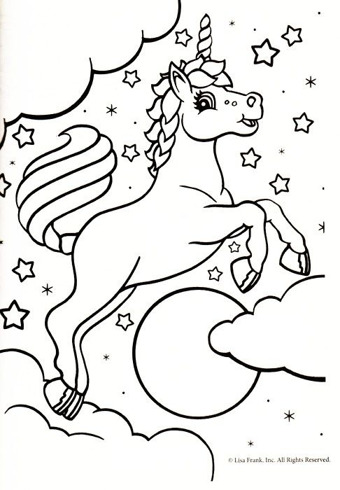 Unicorn coloring page - Makaila loves \