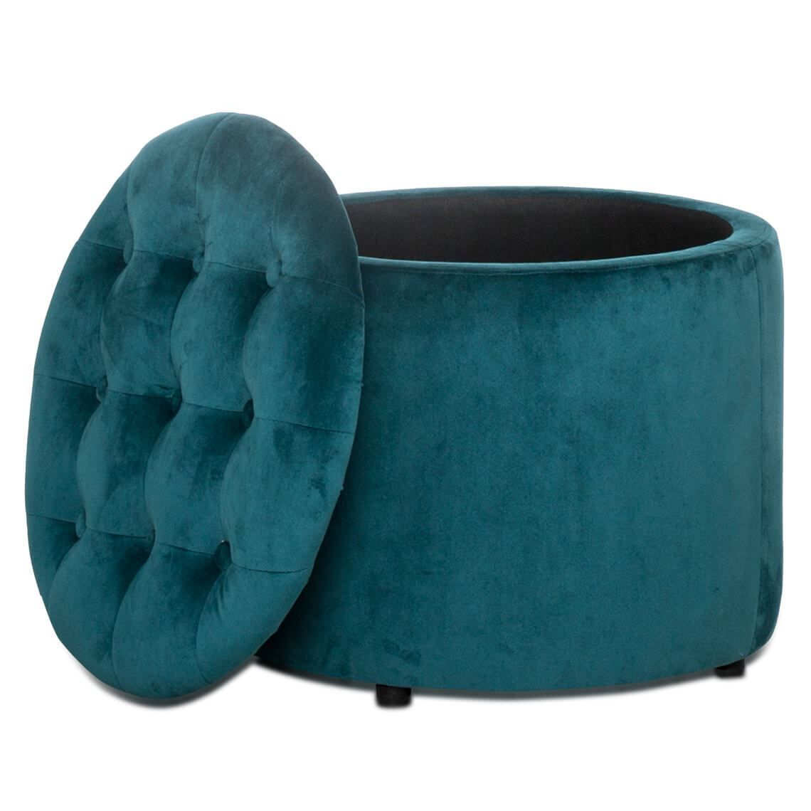 Admirable Flemming Velvet Storage Ottoman Turquoise In 2019 Ocoug Best Dining Table And Chair Ideas Images Ocougorg