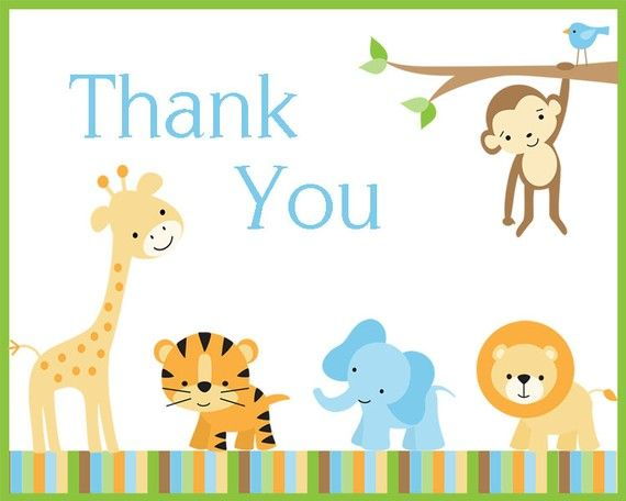 Jungle Thank You Cards