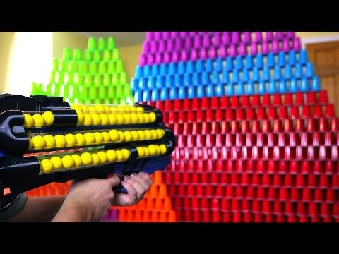 Today PDK Films brings you the World's Craziest Nerf Gun VS 1000 Cups. In  this Nerf gun video, Paul showcases the super modified version of the Nerf  Rival ...
