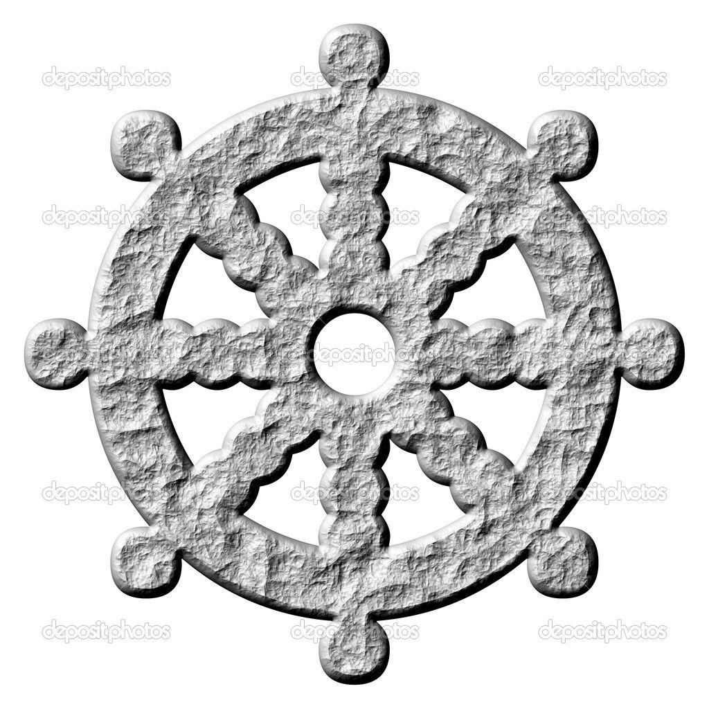 Buddhism symbols 3d stone buddhism symbol wheel of dharma stone buddhism symbol wheel of dharma biocorpaavc Gallery