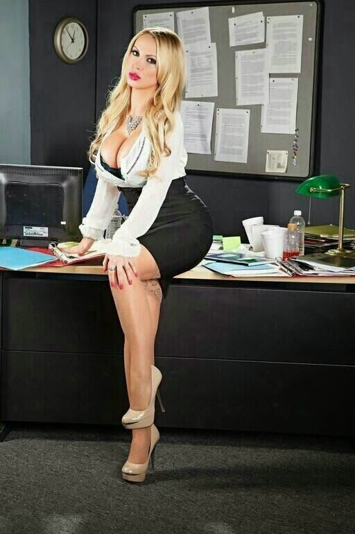 secretary Busty office