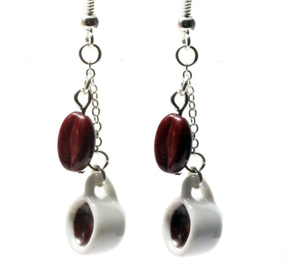 coffee earrings-consider buying handmade for the holidays! #nationalcoffeedayideas