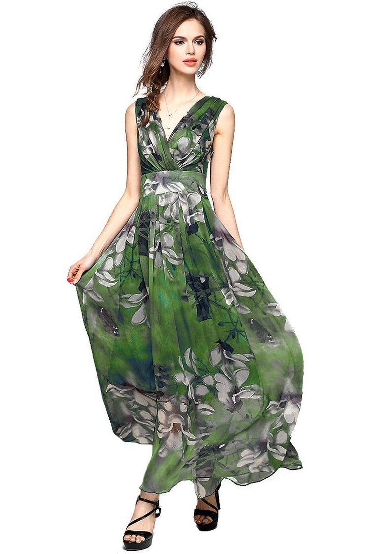Dresses to wear to a destination wedding as a guest  Amazon Joy EnvyLand Women Vneck Flower Prom Party Tunic Long